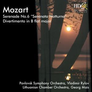 Serenade No. 6 in D Major, Serenata notturna, K.239; Divertimento in B-Flat Major, K.287