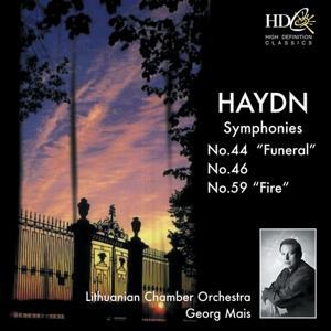 Symphony No.44 in E Minor, Funeral; Symphony No.46 in B Major; Symphony No.59 in A Major, Fire