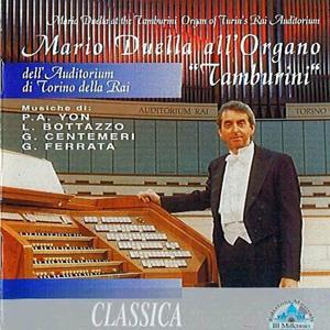 Mario Duella all'organo tamburini