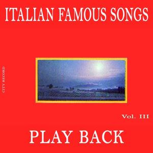 Play Back Italian Famous Songs, Vol.3