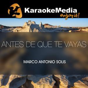 Antes De Que Te Vayas(Karaoke Version) [In The Style Of Marco Antonio Solis]